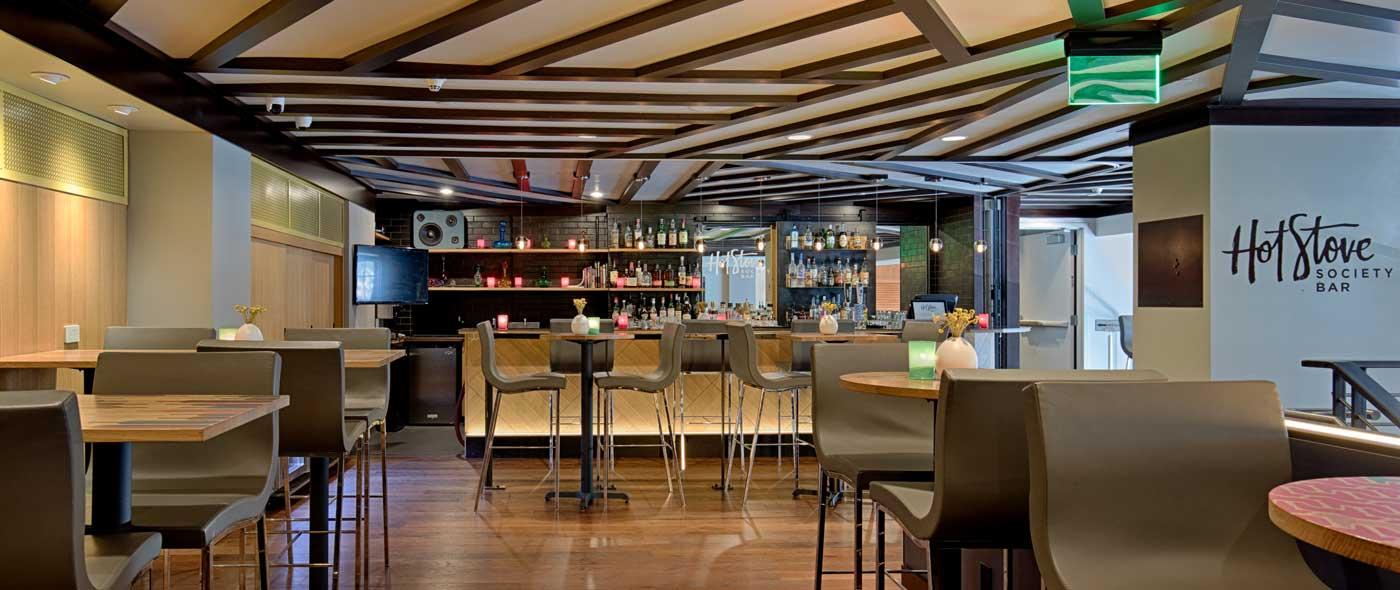 The bar at the Hot Stove Society.