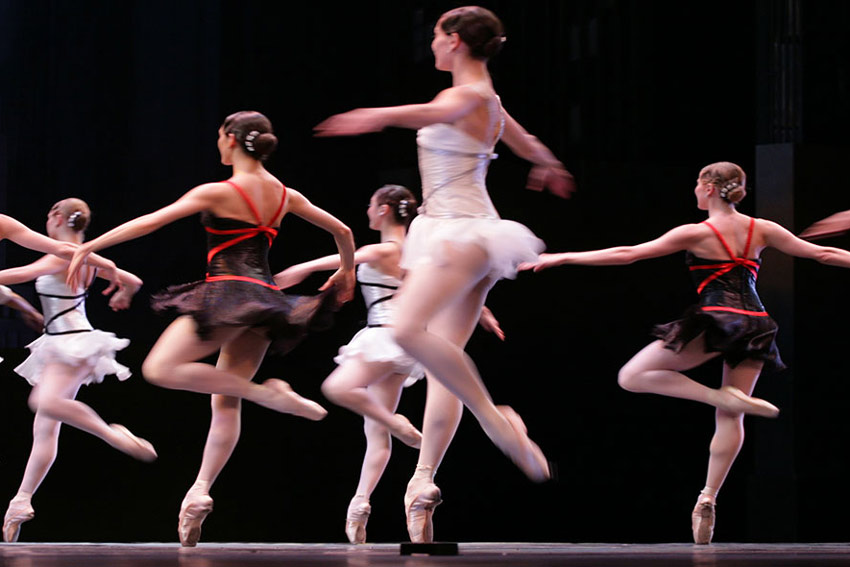 Ballerinas Dancing on a Stage